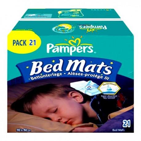 Pack économique de 21 Alèses de lits Pampers de taille 90X80cm sur Promo Couches