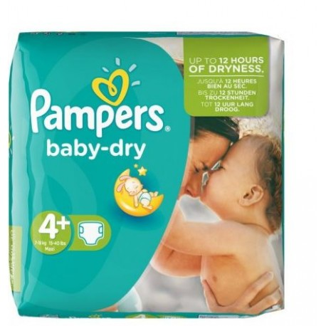 Pack 31 Couches Pampers Baby Dry taille 4+ sur Promo Couches