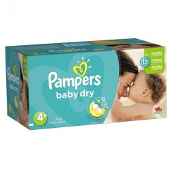 Maxi giga pack 310 Couches Pampers Baby Dry taille 4+