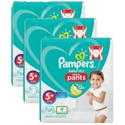Giga pack 216 Couches Pampers Baby Dry Pants taille 5+ sur Promo Couches