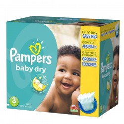 Maxi Giga Pack 312 Couches Pampers Baby Dry