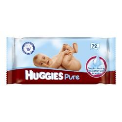 Pack 72 Lingettes Bébés d'Huggies Pure