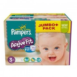 Pack 252 Couches Pampers Active Fit taille 3 sur Promo Couches