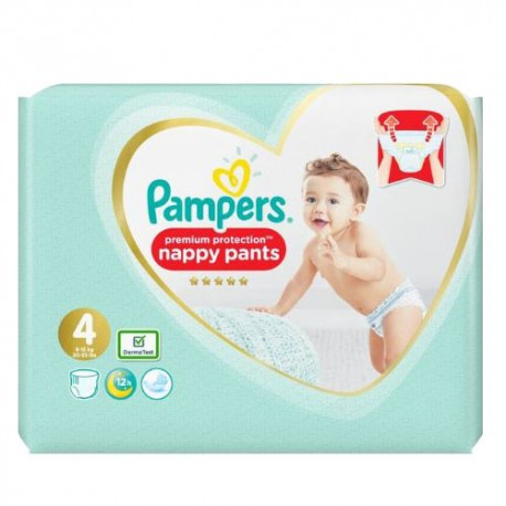 Pack 19 Couches Pampers Premium Protection Pants taille 4 sur Promo Couches