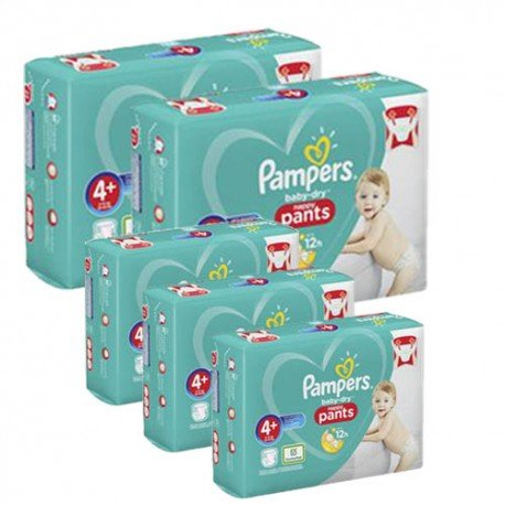 Maxi mega pack 455 Couches Pampers Baby Dry Pants taille 4+ sur Promo Couches