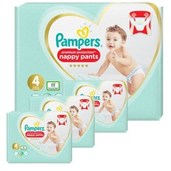 Pack 57 Couches Pampers Premium Protection Pants taille 4 sur Promo Couches
