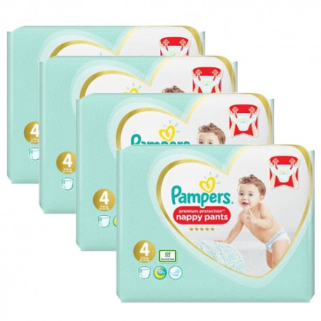Maxi mega pack 456 Couches Pampers Premium Protection Pants taille 4 sur Promo Couches