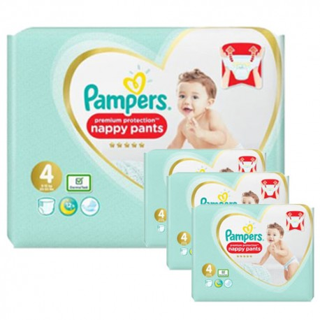 Maxi mega pack 494 Couches Pampers Premium Protection Pants taille 4 sur Promo Couches