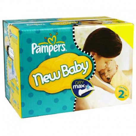 Pack jumeaux 640 Couches Pampers New Baby Dry taille 2 sur Promo Couches