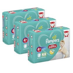 Pack jumeaux 693 Couches Pampers Baby Dry Pants taille 4+