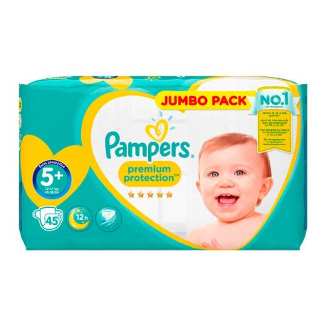 20 Couches Pampers New Baby Premium Protection taille 5+ sur Promo Couches