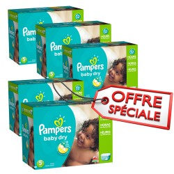 Maxi giga pack 322 Couches Pampers Baby Dry taille 5 sur Promo Couches