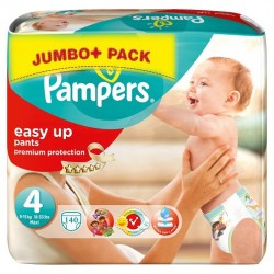 Pack 140 Couches Pampers Easy Up taille 4 sur Promo Couches