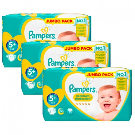 Mega pack 100 Couches Pampers New Baby Premium Protection taille 5+ sur Promo Couches