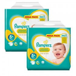 Mega pack 180 Couches Pampers New Baby Premium Protection taille 5+