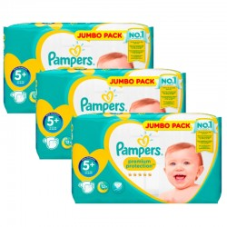 Giga pack 220 Couches Pampers New Baby Premium Protection taille 5+