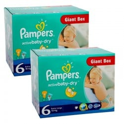 Pack 48 Couches Pampers Active Baby Dry taille 6