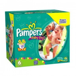 Giga pack 228 Couches Pampers Baby Dry taille 6