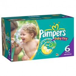 Maxi mega pack 456 Couches Pampers Baby Dry taille 6