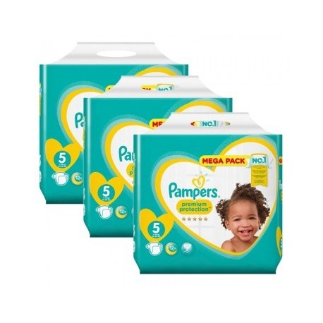 Maxi mega pack 476 Couches Pampers New Baby Premium Protection taille 5 sur Promo Couches