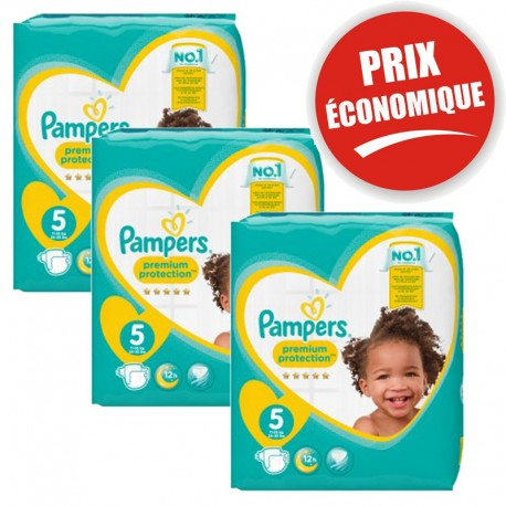 Pack jumeaux 612 Couches Pampers New Baby Premium Protection taille 5 sur Promo Couches