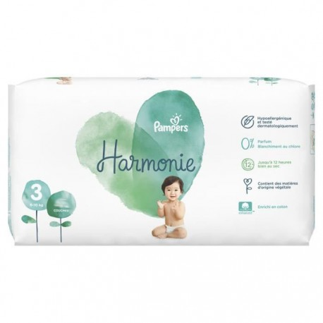 Pack 66 Couches Pampers Harmonie taille 3 sur Promo Couches
