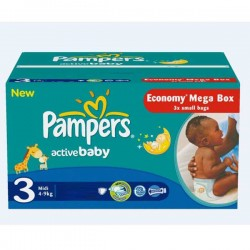 Giga Pack 192 couches Pampers Active Baby