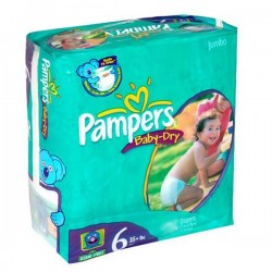 Pack 33 Couches Pampers Baby Dry taille 6