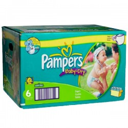 Maxi Pack de 198 Couches Pampers de la gamme Baby Dry taille 6
