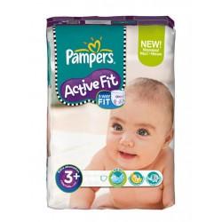 Pack d'une quantité de 29 Couches Pampers Active Fit de taille 3+ sur Promo Couches