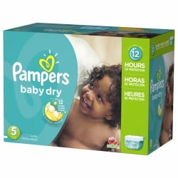 132 Couches Pampers Baby Dry taille 5 sur Promo Couches
