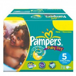 176 Couches Pampers Baby Dry taille 5 sur Promo Couches