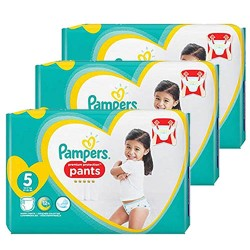 Giga pack 204 Couches Pampers Premium Protection Pants taille 5