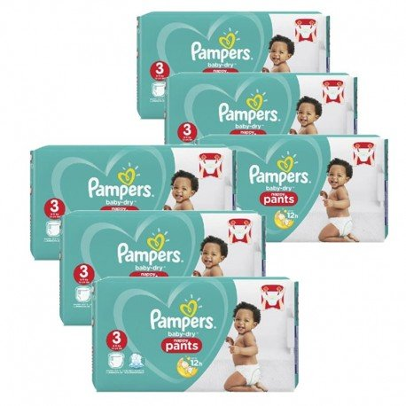 540 Couches Pampers Baby Dry Pants taille 3 sur Promo Couches