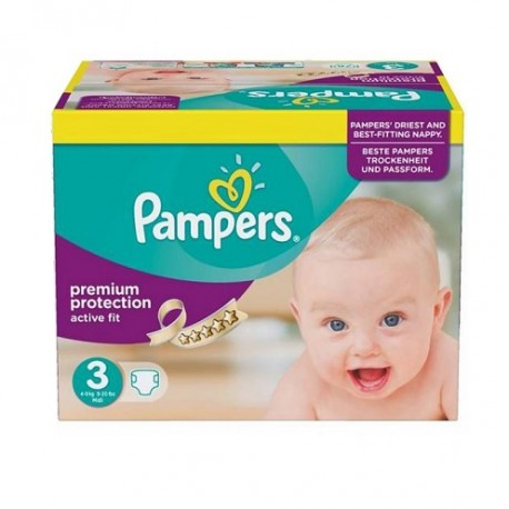 340 Couches Pampers Active Fit taille 3 sur Promo Couches