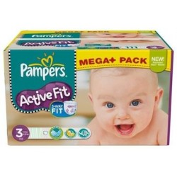 Maxi mega pack 408 Couches Pampers Active Fit taille 3