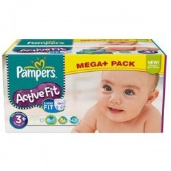 Pack 280 Couches Pampers Active Fit de taille 3+ sur Promo Couches