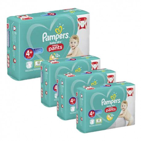 Pack jumeaux 595 Couches Pampers Baby Dry Pants taille 4+ sur Promo Couches
