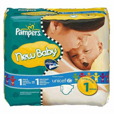Couches pampers new baby taille 1 en promotion 45 couches sur promo couches - Promo couche pampers auchan ...