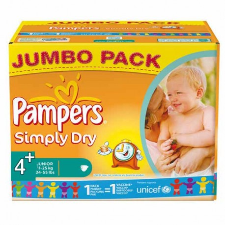 Couches pampers simply dry taille 4 pas cher 308 couches sur promo couches - Couches pampers en promo ...