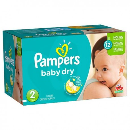 Couches Pampers Baby Dry Taille 2 Pas Cher 252 Couches Sur Promo