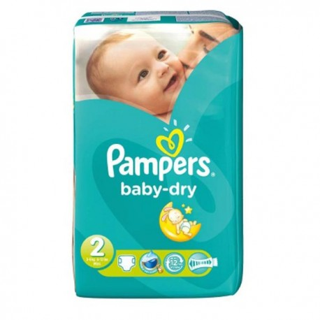 Pack 33 Couches Pampers Baby Dry taille 2 sur Promo Couches