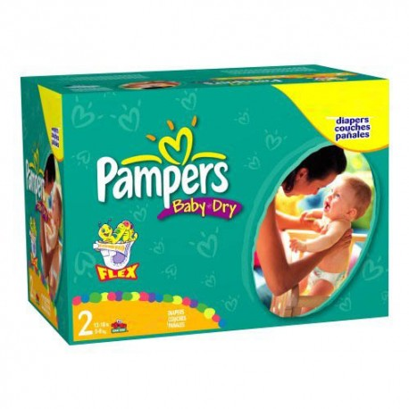 Mega pack 198 Couches Pampers Baby Dry taille 2 sur Promo Couches