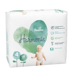 Pack 28 Couches Pampers Harmonie taille 4