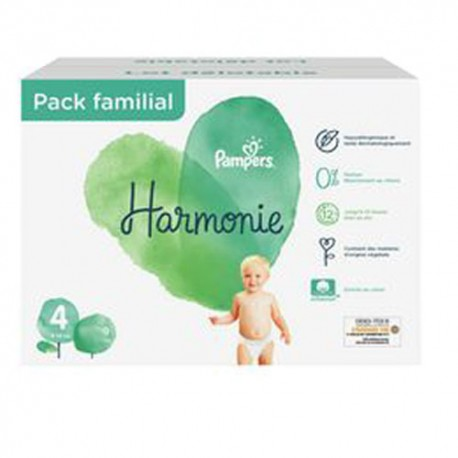Giga pack 280 Couches Pampers Harmonie taille 4 sur Promo Couches