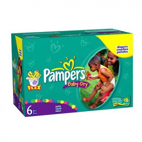 Giga pack 260 Couches Pampers Baby Dry taille 6 sur Promo Couches