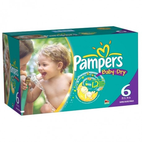 Maxi giga pack 364 Couches Pampers Baby Dry taille 6 sur Promo Couches