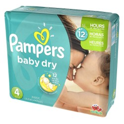 Mega pack 156 Couches Pampers Baby Dry taille 4 sur Promo Couches