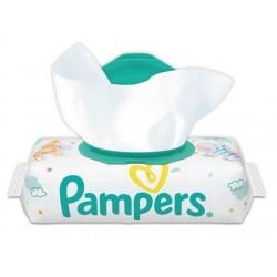 Pack d'une quantité de 56 Lingettes Bébés Pampers Sensitive sur Promo Couches