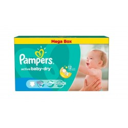 Pack jumeaux 559 Couches Pampers Active Baby Dry taille 4
